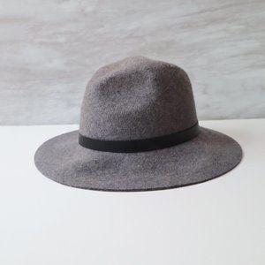 Grey Wool Fedora Hat